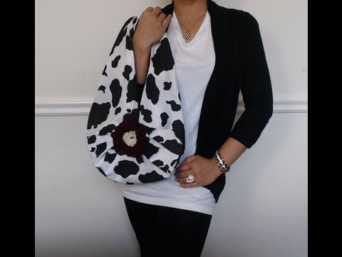 DIY Fashion : No sew drop bag in 2 minutes( just 1 yard of fabric)