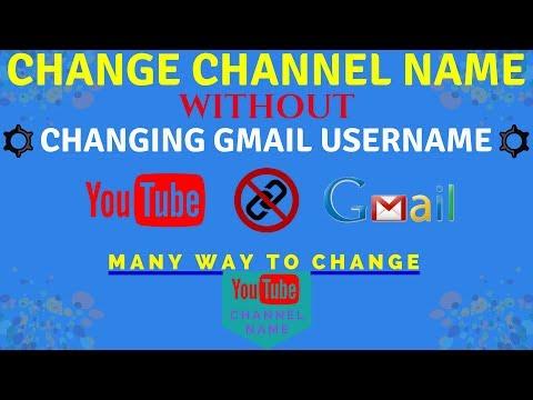 New Way to change YouTube username without changing gmail name   Change Your YouTube Username 2017