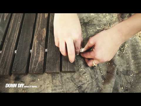 How to Make a Wood Stake Door Mat