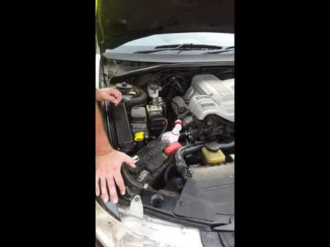VY Commodore how to remove exess transmission fluid
