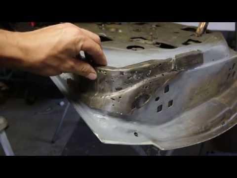 Door frame rust repair all steel pt 2