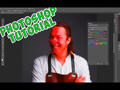 Photoshop Tutorial - how to fix red skin tones and blemishes