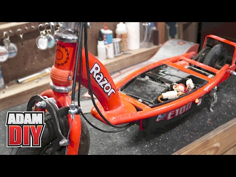 How to Repair an Electric Scooter - Razor E100 Troubleshoot