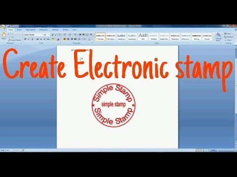 How to make Electronic stamp in MS Word | Digital stamp in MS word
