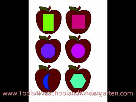 How to make Fun File Folder Games  - Printables for Free - Apple Shapes Preschool