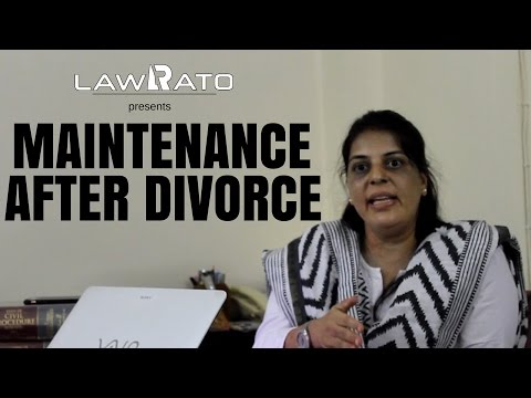 Provision of maintenance after divorce