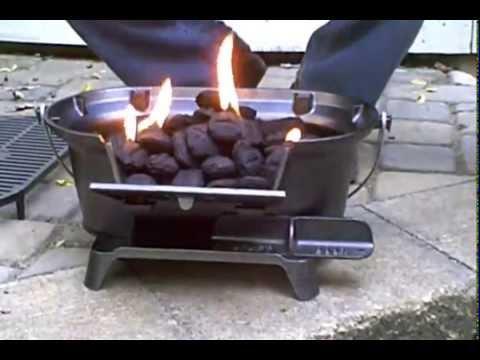 Lodge Sportsman's Charcoal Hibachi Grill & PigTail Food Flipper