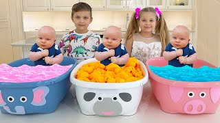 Diana and Roma teach Oliver colors | Toddler learning video