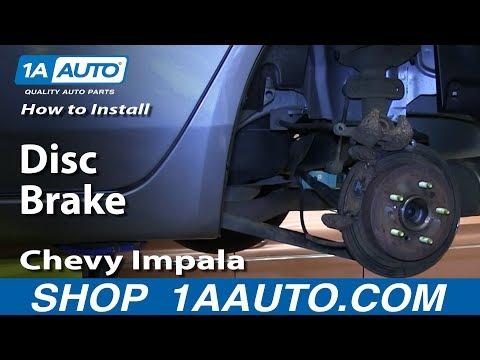 How To Install Do a Rear Disc Brake Job Chevy Impala 2006-12
