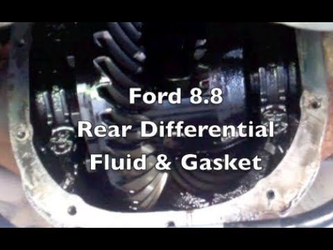 Ford rear differential cover, fluid, gasket