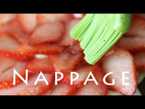 Nappage Recipe | Strawberry Glaze for Fruit Tarts 과일 글레이즈 만들기 - 한글자막