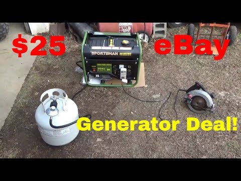 $25 eBay Dual Fuel Generator,  Sportsman 4KW Power Plant, Setup, Test, and Review!