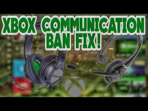 XBOX CHAT BAN FIX ! | Xbox One Prevent Chat With Some People | Xbox Communication Ban Fix !