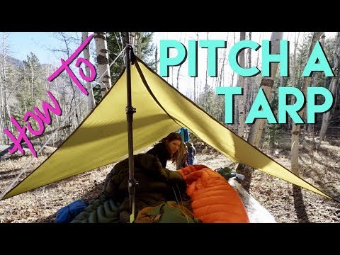How To Pitch A Backpacking Tarp