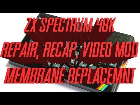 Sinclair ZX Spectrum 48k Repair, Recap, Membrane replacement and Video Mod 16BitBench
