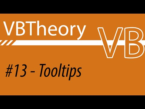 Working With Tooltips - VB#13