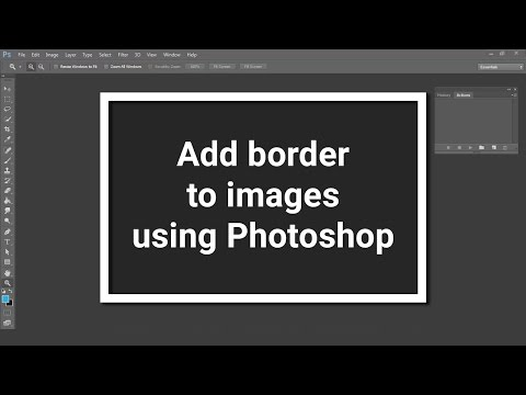 How to add a perfect border to images using photoshop