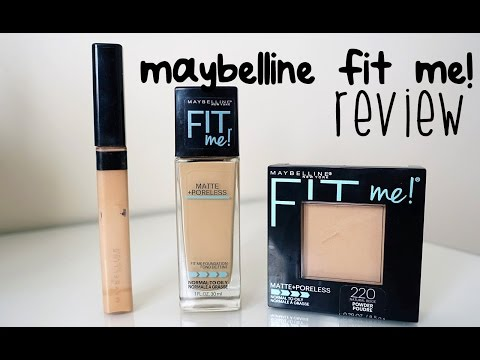 MAYBELLINE FIT ME (Matte & Poreless) REVIEW | FOUNDATION, CONCEALER, POWDER (BAHASA)