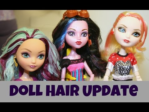 Doll Hair Make-Over Styling Update ~ Maddie, Apple and Piper ~ Monster High ~ Ever After High