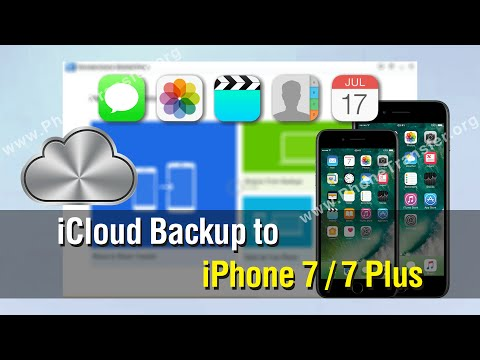 How to Restore Contacts, Photos, Videos from iCloud Backup to iPhone 7 / 7 Plus