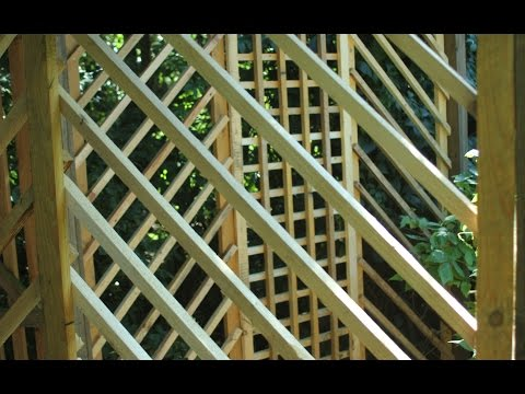 Pallet Wood Garden Trellis Arbor  2   Trellis Panels and Door. Bricolaje gazebo palets 2 Gazebo 2