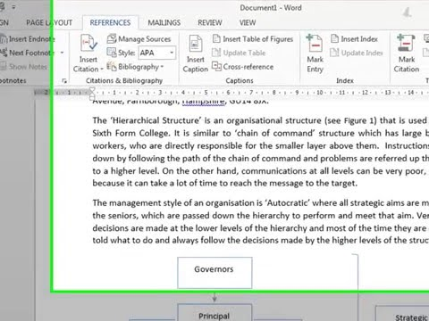 Word 2013 - Adding Captions/figure numbers and cross referencing