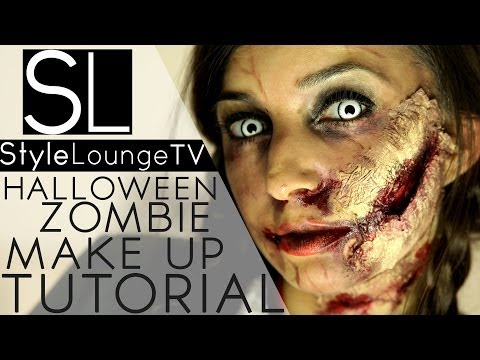 Halloween Make Up Tutorial - Walking Dead Zombie DIY