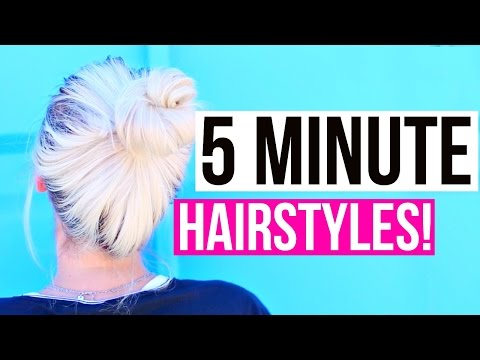 Easy 5 Minute Hairstyles for Back to School! | Aspyn Ovard