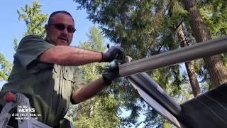 How to replace an RV patio awning fabric yourself using a rope and