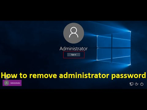 how to remove administrator password in windows 10 - Howtosolveit