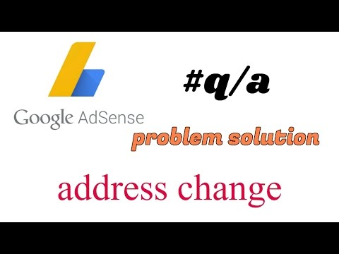 Hindi | हिंदी Address change in how Google AdSense account