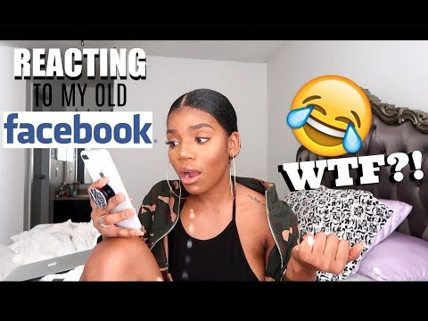 REACTING TO MY OLD FACEBOOK POSTS !