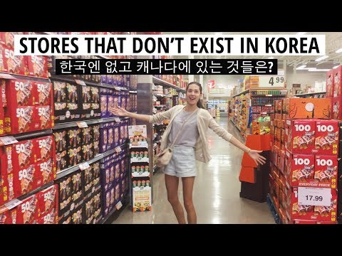 Stores That Don't Exist in Korea (자막)한국엔 없고 캐나다에 있는 것은? (마켓 & 홈데포)