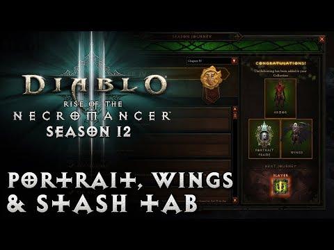 Diablo 3 - Season 12 Guide - Portrait, Wings, & Stash Tab