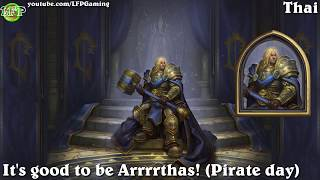 Hearthstone: Arthas Menethil Hero dialogue in 14 languages -Knights of the Frozen Throne