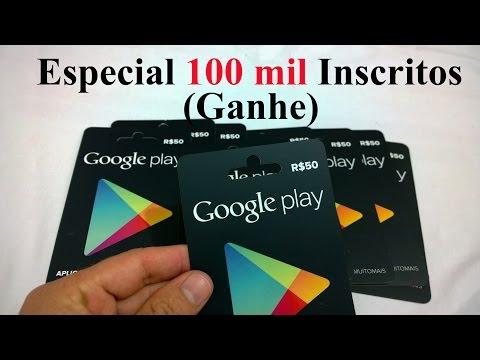 Especial 100 mil Inscritos - Ganhe Gift Card Play Store - FINALIZADO