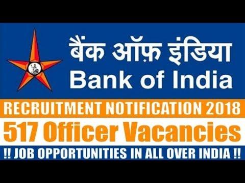 Bank of India (BOI) Recruitment 2018 | latest bank jobs | online jobs | bank job openings