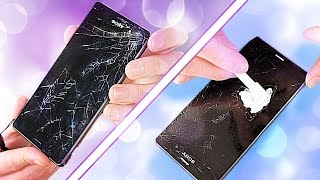 Fixing a Smashed Phone Screen - on a budget! (GLASS ONLY REPAIR ATTEMPT)