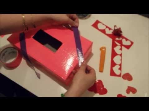 Valentines Box Tutorial - DIY - Duct Tape Holder