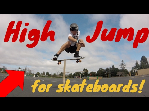 SKATEBOARDING HIGH JUMP BAR!