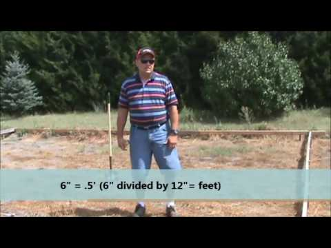 How to figure out square feet, square yards and cubic yards
