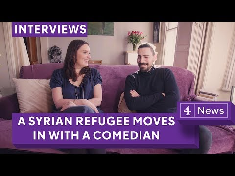 A Syrian refugee moves in with a comedian - their story