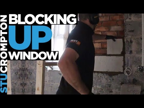 Blocking up window and fitting upvc door