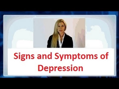 Signs and symptoms of Depression and Anxiety