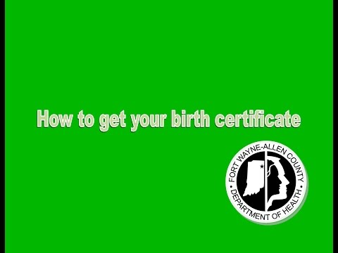 How to get a copy of your birth certificate