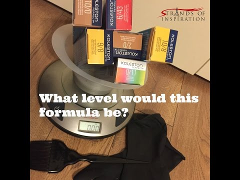 Determine the Level of Your Haircolor Formula