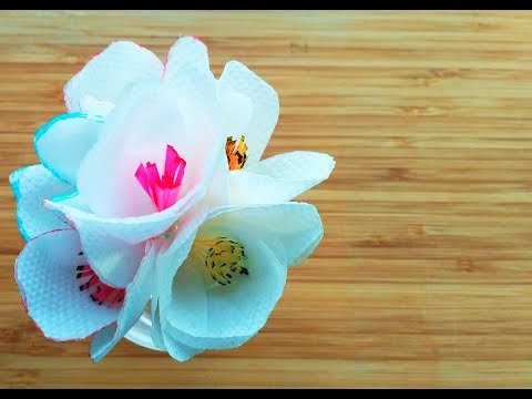 How to make a tissue paper flower / Simple tissue paper flower for beginners / Tissue paper crafts