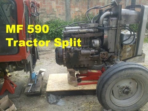 MF 590 - Tractor Split - clutch and flywheel removal - part 18