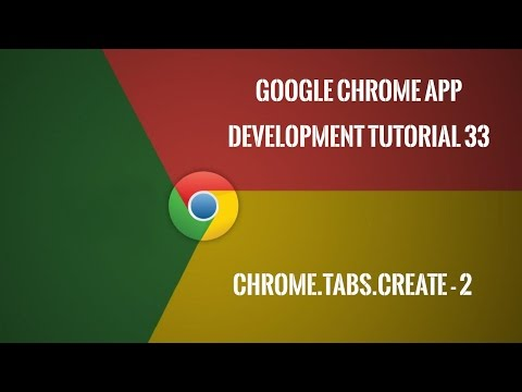 Chrome Extension Tutorial 33: chrome.tabs.create - Part 2