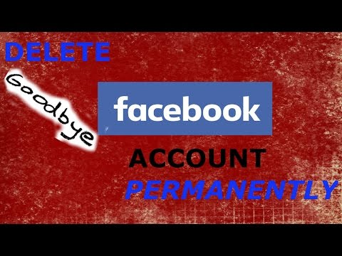 How to delete Facebook account temporarily and permanently 2016
